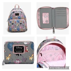 Loungefly Disney cats backpack and matching wallet
